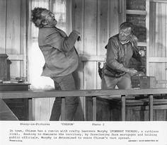 JOHN WAYNE punches FORREST TUCKER Original Vintage 1970 CHISUM Western PHOTO