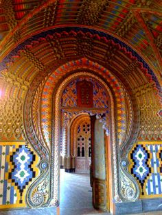 The extravagant residence Castello di Sammezzano sits on top of a hill in Tuscany, Northern Italy. Originally it was built in the Moorish style in 1605 for Ximenes d'Aragona and then re-designed between 1853 and 1889. After the war the castello was used as a luxury hotel until closure in the mid to late 1990's. It was abandoned until April 2012 when the FPXA committee was formed, aiming to promote and enhance the castle.