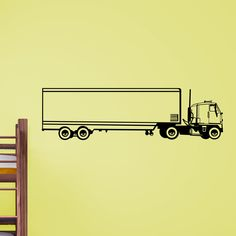 Nice Truck Lorry Kids Transport Wall Sticker