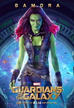 Marvel's Guardians of The Galaxy Character Poster: Gamora!