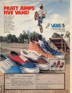 Old school Vans ad Bmx Shoes, Shoes Ads, Vans Shoes, Skate Shoes, Vintage Sneakers, Vintage Shoes, Vintage Advertisements, Vintage Ads, Vintage Posters