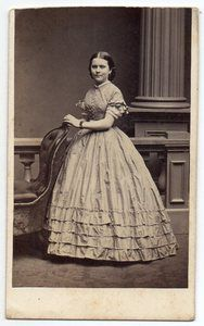 Tiered ruffled short- sleeve dress