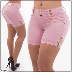 Women S Fashion Kimono Sexy Jeans, Sexy Shorts, Jean Moda, Short Outfits, Cute Outfits, Pit Bull Jeans, Salopette Jeans, Leotard Fashion, Studded Shorts