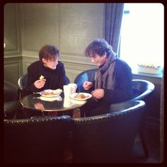 DOCTOR WHO'S MATT SMITH AND NEIL GAIMAN SHARE A QUIET BREAKFAST