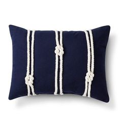 SO CUTE - but so easy to duplicate!!  Threshold™ Rope Decorative Pillow - Navy @ Target