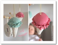 Mobile mit Eistüte, Cupcake