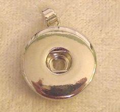 Snap Button Necklace Pendant Holder  #israeli #holyland #jewish #mitzvah #gift #israel #judaica