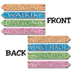 Beach Signs | 4ct for $3.57 in Luau - Theme Parties - Theme & Event Parties