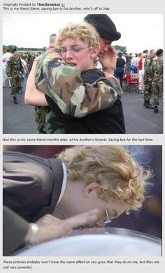 This is so sad! but the brother should be proud that his brother severed of country! Yes it is sad but at the same time I think it's a time to be proud. U can be sad but he should be proud of his if u lost someone in the battle comment below! Touching Stories, Sad Stories, Image Triste, John Lenon, Faith In Humanity Restored, We Are The World, Real Hero, Make You Cry, Look At You