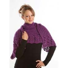 Lighter than Air Shawl is long enough to wrap twice around your shoulders - free crochet pattern