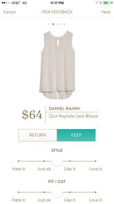 Quinn Keyhole Lace Blouse