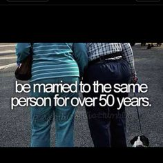 Wouldn't this be great if this was on every couples' bucket list? I love my husband and plan to make it to 50 years!