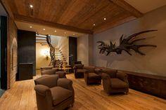 A private cinema in Gstaad, Switzerland. #luxury #cinema #Gstaad