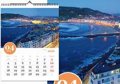 Calendario souvenir mensual Donostia-San Sebastián
