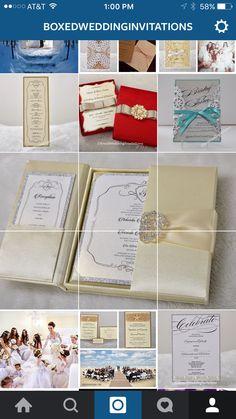 Boxed wedding invitations & stationery   #wedding #bride #invitations #stationery #weddinginvitation #invitationcard #card #invitationcards