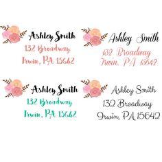 return address labels by Labelin on Etsy Print Address Labels, Mailing Address Labels, Wedding Address Labels, Address Stickers, Custom Address Labels, Return Address Labels, Santa Address, Christmas Address Labels, Custom Printed Labels