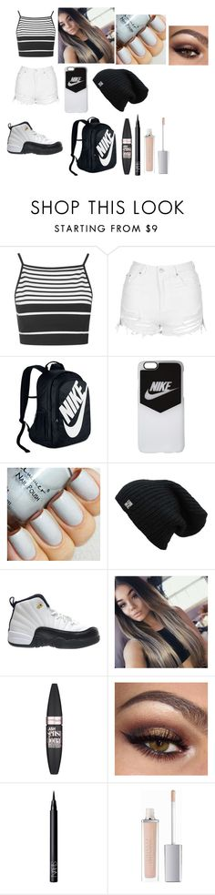 """""""Cute All Day Everyday"""" by jaden-norman on Polyvore featuring Topshop, NIKE, TAXI, Maybelline, NARS Cosmetics and ArtDeco"""
