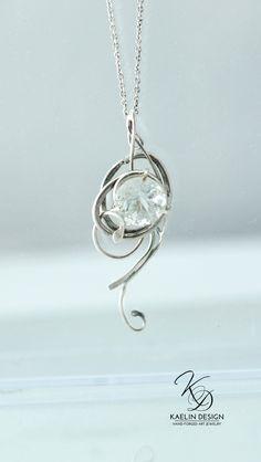Silver Wind Pendant by Kaelin Design Art Jewelry
