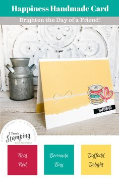 Today I am sharing a sweet and simple happiness card that you can use as inspiration for so many other kinds of cards - come take a look! Just Ink, Alcohol Markers, Single Words, Subtle Textures, Color Card, Embossing Folder, Free Paper, Diy Craft Projects, Greeting Cards Handmade