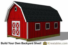 16x24 gambrel shed front left