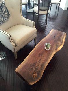 American Live Edge Wood Coffee Table