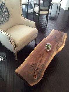 SALE American Live Edge Wood Coffee Table by UmbuzoRustic on Etsy