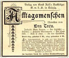 Original-Werbung/ Anzeige 1898 - VERLAG KEIL / LEIPZIG / EVA TREU…
