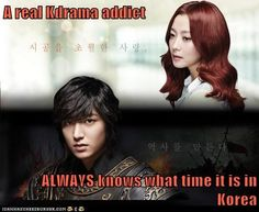 A real Kdrama addict  ALWAYS knows what time it is in Korea