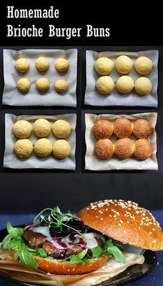 Brioche Burger Buns - die besten. Rezept: http://www.tasteoftravel.at/brioche-burger-buns/