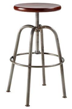 Ellos Home Spinn-jakkara Säädettävä korkeus 55–78 cm. Voidaan käyttää myös baarijakkarana. Jalat metallia, istuin kiillotettua puuta. Istuimen Ø 32 cm, alaosan Ø 47 cm. Toimitetaan osina. <br><br>