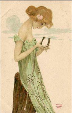 1903 Art Nouveau ~ Lucky Charm ~ Kirchner