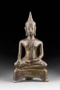 BUDDHA MARAVIJAYA - - Thailand, Ayutthaya, 15./16. Jh. - - Bronze,[...]