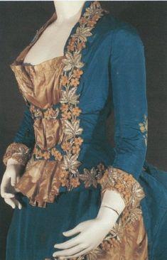 Victorian Era Dresses, Victorian Era Fashion, Victorian Gown, 1800s Fashion, Retro Fashion, Vintage Fashion, Edwardian Era, French Fashion, Vintage Dress Patterns