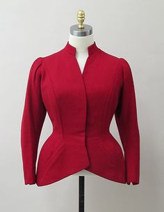 Jacket Charles James  Date: ca. 1947 Culture: American Medium: wool Accession Number: 2013.277