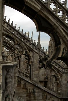 Gothic architecture with quatrefoils on the flying buttresses Gothic Architecture, Amazing Architecture, Architecture Details, Classical Architecture, Gothic Art, Victorian Gothic, Ribbed Vault, Flying Buttress, Gothic Windows