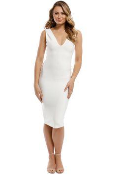 7a7cfc1c30fa Misha Collection - Solange Bandage Dress - Ivory - Front Rent Designer  Dresses