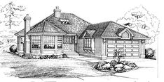 Elevation of Traditional   House Plan 55212