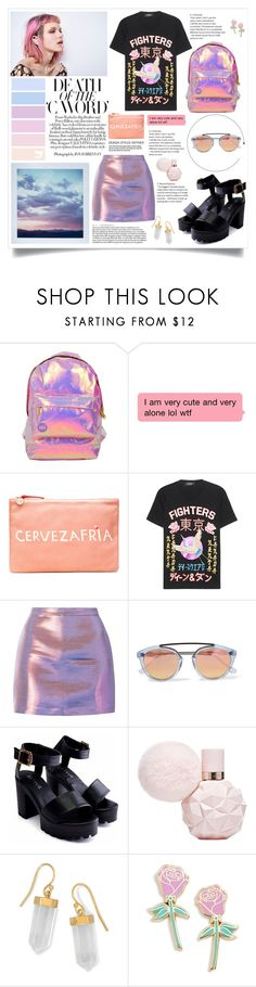 """""""Hoy es el día que tanto querías"""" by lolapastel ❤ liked on Polyvore featuring Iva, Miss Selfridge, Clare V., Dsquared2, Westward Leaning, BillyTheTree, Big Bud Press and nowplaying"""