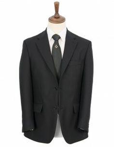 Scott Black Herringbone Pure New Wool Jacket