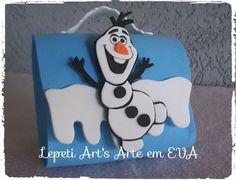 Mochilinha em EVA tema Frozen  Pode ser feito em qualquer tema  Cor pode variar de acordo com pedido.  Quantidade mínima: 10 peças R$ 4,50