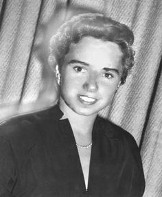 Ethel Kennedy's engagement photo 1950