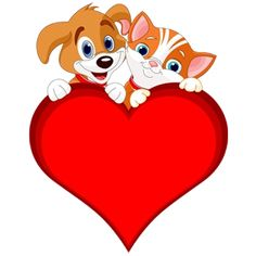 Cat And Dog Clip Art - Cartoon Picture Images Cartoon Dog, Cartoon Images, Cute Cartoon, Cartoon Picture, Animals Images, Cute Animals, Symbols Emoticons, Dog Clip Art, Cat Dog