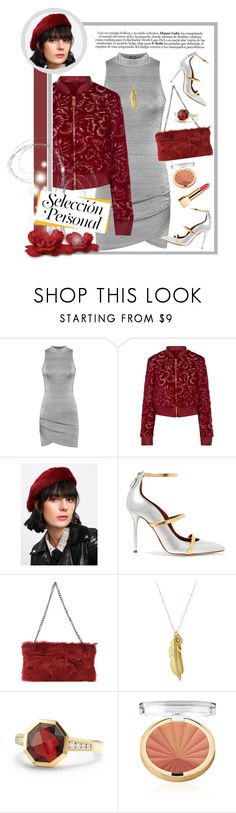 """La Perla Faux Fur Jacket"" by nisak-tf ❤ liked on Polyvore featuring WearAll, La Perla, Malone Souliers, Borsetteria Napoli 1985, Sequin, David Yurman and Yves Saint Laurent"