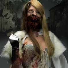 Zombie Emma Frost Cosplay
