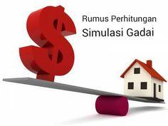 Rumus dan formula serta komponen parameter cara menghitung angsuran simulasi pinjaman dengan sistem gadai yang ditetapkan oleh perusahaan pembiayaan