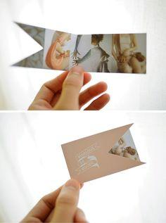 oh, hello friend: flag die-cut business cards