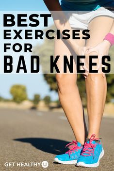 5 Exercise Modifications For Bad Knees and A Low-Impact Workout Plan - Learn the best exercises for bad knees with both strength and cardio options so you can get a full-length workout done that won't hurt your joints. Cardio For Bad Knees, Running With Bad Knees, Knee Strengthening Exercises, Stretches, Exercises For Knees, Exercises For Arthritic Knees, Arthritis Exercises, How To Strengthen Knees, Knee Arthritis
