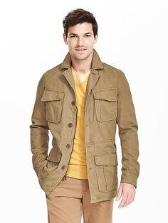 Cotton Four-Pocket Jacket | Banana Republic
