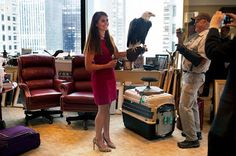 Meet Trump's 26-year-old mystery woman By Reed Tucker September 25, 2015 | 11:39am - New York Post //   Donald Trump's campaign communications manager Hope Hicks holds Uncle Sam, an American bald eagle. Photo: Paul Moakley for TIME