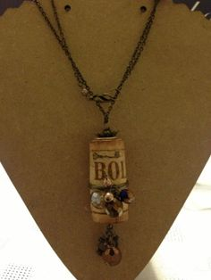#Homemade #gifts #ideas Wine cork necklace